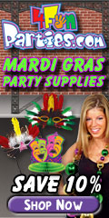 Save 10% on Mardi Gras Party Supplies