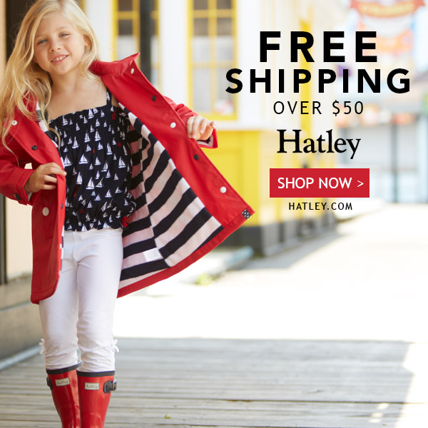 Free Shipping on $50+ orders at Hatley.com