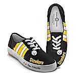 NFL-Licensed Pittsburgh Steelers Women's Canvas Sneakers