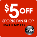 $5 off your next sports purchase of $25 or more from HSN.com! Use code: 157966