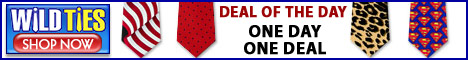 Deal of the Day Promotion at Wildties.com
