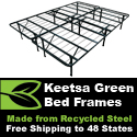 Keetsa Bedframes made for 100% recycled steel!