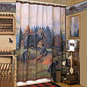 A Shower Curtain for Rustic Homes
