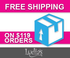 Free Shipping at Lydia's