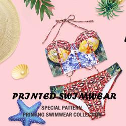 PRINTED SWIMWEAR-Special Pattern Printing Swimwear Collection.
