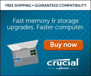 Memory Upgrades by Crucial