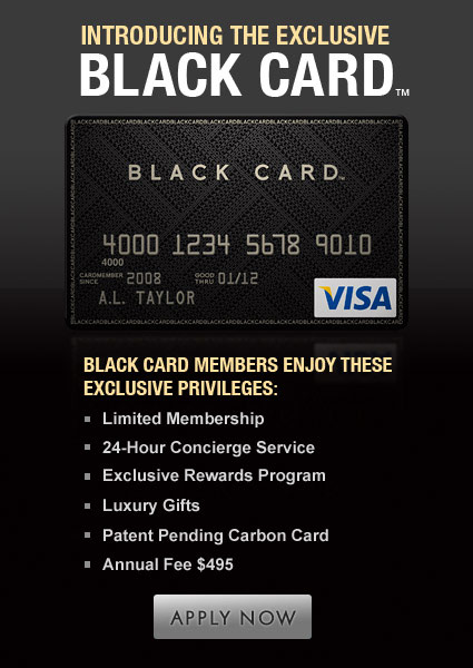 Introducing the Exclusive Black Card