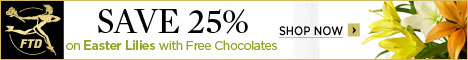 Save up to 25% on Easter Lillies and get Free Chocolates with your order! 468 x 60