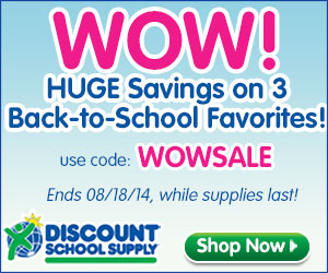BACK TO SCHOOL SALE AT DISCOUNT SCHOOL SUPPLY