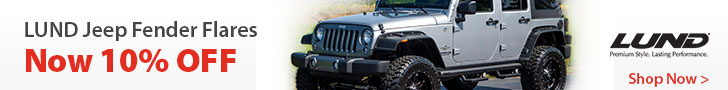 Lund Fender Flares for your Jeep are 10% off during the month of November.
