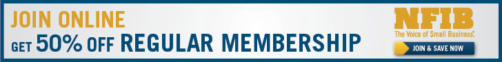 Join NFIB online and get 50% off membership