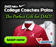 Shop 2012 College Nike Coaches Sideline Polos at Fanatics!  Perfect gift for Father's Day!