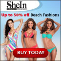 Save up to 50% off the latest beach fashions at SheInside.com