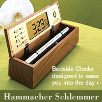 Bedside Clocks from Hammacher Schlemmer