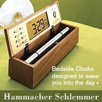 Bedside Clocks from Hammacher Schlemmer