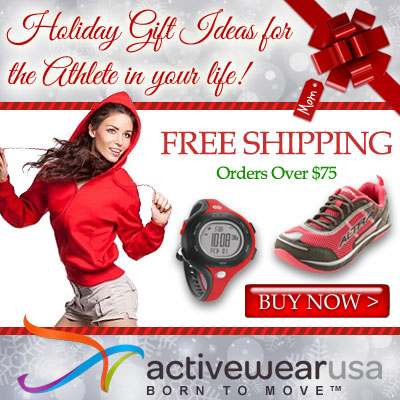 Holiday Gift Ideas for the Athlete in Your Life at ActivewearUSA.com! Free Shipping for Orders $75+,