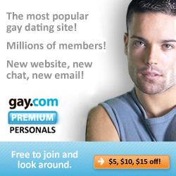 Get $5, $10 or $15 off gay.com Premium Personals