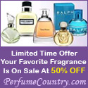 Perfume Country -  Up to 50% Off Designer Fragrances + 15% Off Instant Coupon - Get it Now