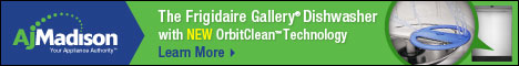 Frigidaire Gallery Dishwasher OrbitClean Technology