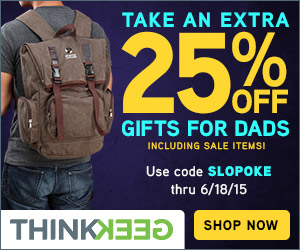 ThinkGeek: 25% Off Father's Day Gifts