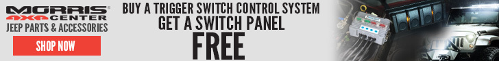 Purchase a qualifying TRIGGER 4-Switch Harness and GET A FREE Overhead Switch Panel at Morris 4x4!