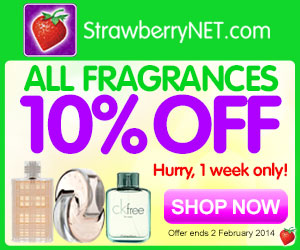 ALL Fragrances 10% OFF at strawberryNET.com!