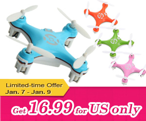 US Only, Receive in 7 Days - $16.99 on Cheerson CX-10 4CH 2.4GHz 6 Axis Gyro RC Quadcopter