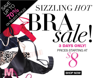 Sizzling Hot Bra Sale. Up to 70% Savings on Select Bras.