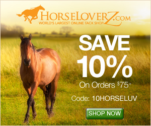 Save 10% on orders $75+ with code 10HORSELUV at HorseLoverZ.com.