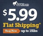 Get $5.99 Flat Shipping at Horse.com