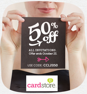 Have a Bigger, Better Birthday Bash! 50% off All Invitations at Cardstore, Use Code: CCL2050