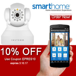 10% OFF Coupon Security Cameras use code EPRES10 at SmartHome.com