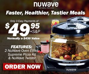 2 NuWave Oven Elites, Supreme Pizza Kit, & NuWave Twister