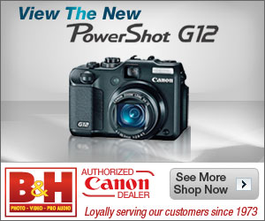 New Canon Powershot G12 at B&H Photo