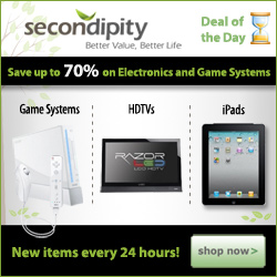 Check out the Deal of the Day at Secondipity. Hurry before it's gone!