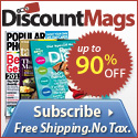Special Offer! Save 10% on Women's Magazine Subscriptions at DiscountMags.com! - 125x125