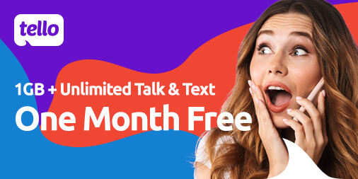 Unlimited Talk& Text + 1 GB Data. One Month FREE