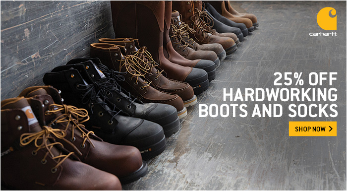 25% Off Hardworking Boots & Socks