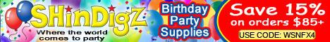 Save 10% on ShindigZ Birthday Party Supplies