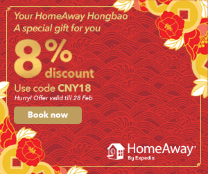 Take a shopping trip to Bangkok, Singapore, or Kuala Lumpur and book your accommodation with HomeAway and get a 5% off using promo code SHOP17