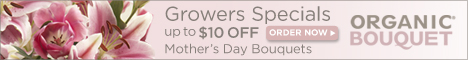 Up to $10 off Mother's Day Bouquets