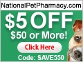 $5 off $40 Purchase - National Pet Pharmacy