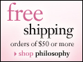 free shipping on all orders over $50 at philosophy