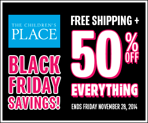 The Children's Place Black Friday Sale: 50% off Entire Site (NO Exclusions) + Free Shipping on ANY Order