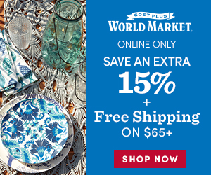 Extra 15% Off + Free Shipping $65+