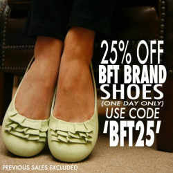 25% off all BarefootTess-brand shoes; code BFT25