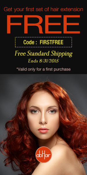 Get your first set of hair extension from abHair.com FREE! Code FIRSTFREE. Free Shipping.
