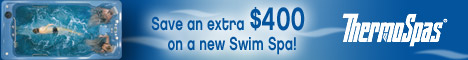 Save $400 on a Swim Spa