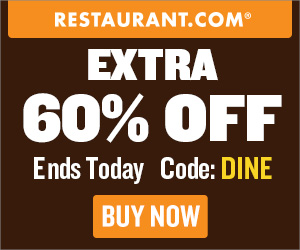 $25 Restaurant.com Gift Certificate Only $4 Today!