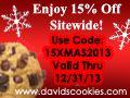 David's Cookies: 15% off Sitewide Code 15XMAS2013 Exp 12/31/13